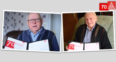 Anton Duesmann und Gerhard Zurloh für 70 Jahre Mitgliedschaft geehrt