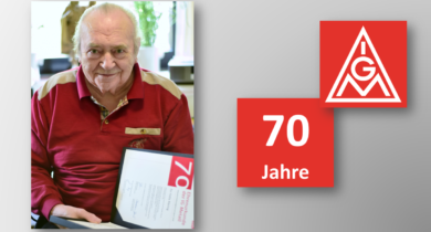 Felix Röring für 70 Jahre Mitgliedschaft in der IG Metall geehrt!