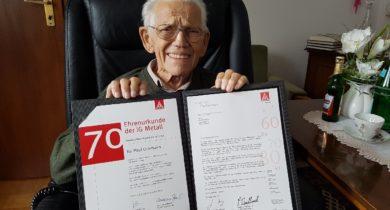 Paul Ochman aus Vreden feiert 70jährige IG Metall-Mitgliedschaft