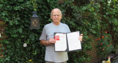 Jubilar Ernst Duday aus Gronau 70 Jahre Mitglied in der IG Metall