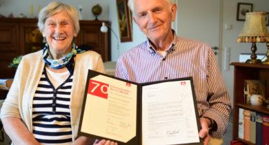 Franz Schmalhorst 70 Jahre Mitglied der IG Metall Bocholt