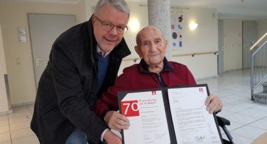 Rudolf Breuer 70 Jahre Mitglied in der IG Metall