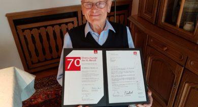 Wilhelm Korobczuk 70 Jahre in der IG Metall