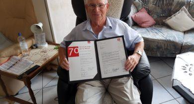 Johann Melchers 70 Jahre in der IG Metall